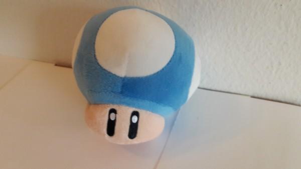 Blauer Pilz - Plüschfigur
