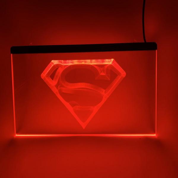 Superman LED Schild