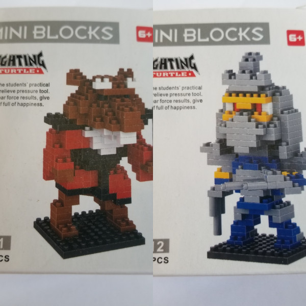 Turtles - Shredder & Splinter - Mini Blocks - Lego