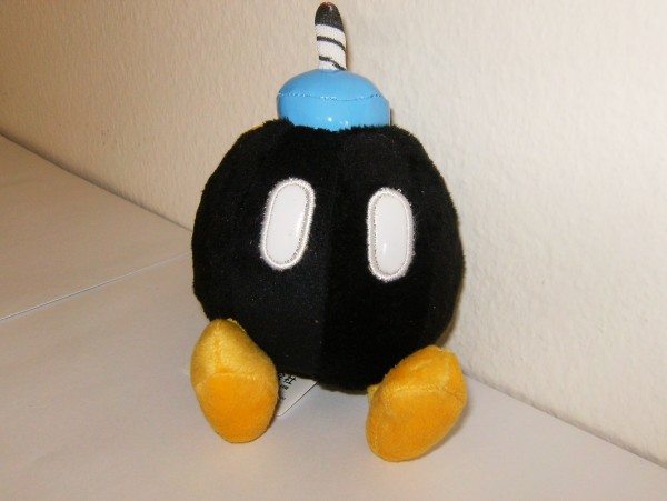 Bomb-Omb schwarz - Plüschfigur - klein
