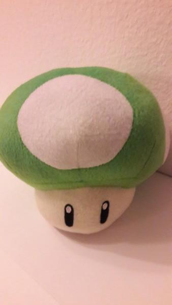 Grüner Pilz - Plüschfigur